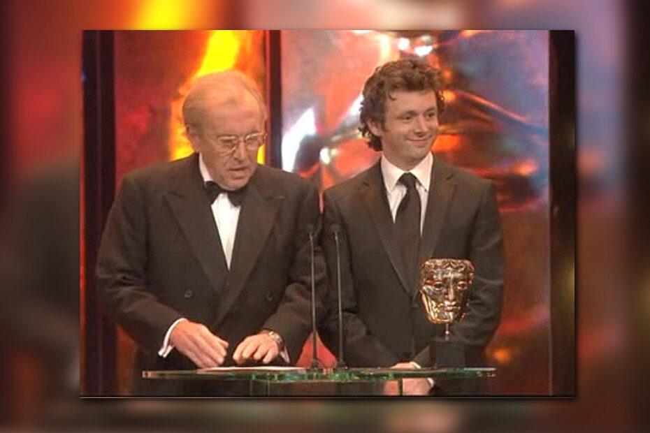 Michael Sheen and David Frost present a BAFTA