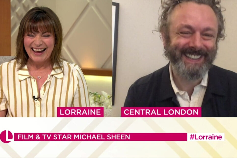 Michael Sheen on Lorraine discussing A Writing Chance
