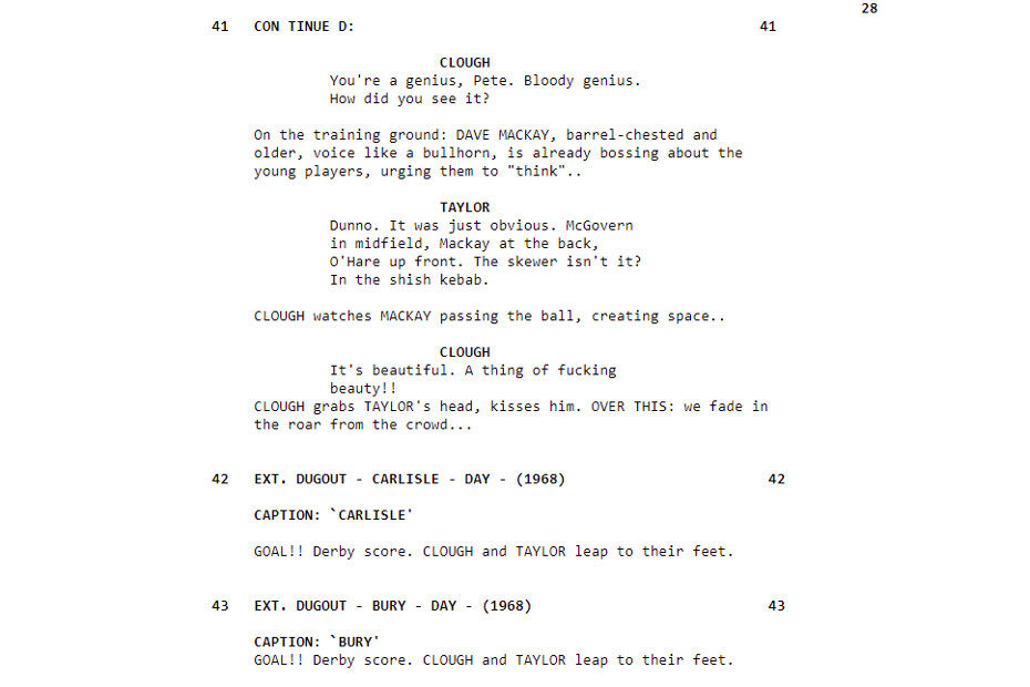 The Damned United script