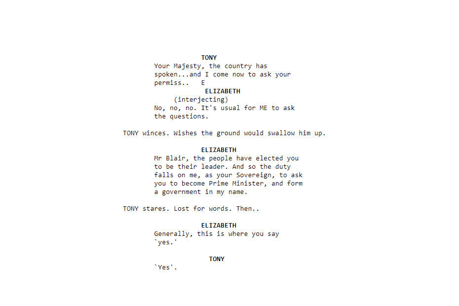 The Queen script